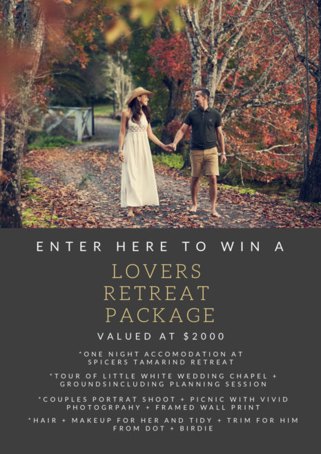 WIN A LOVERS RETREAT PACKAGE
